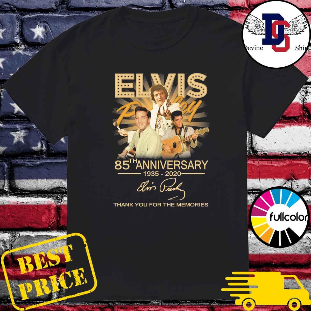 Legend Elvis Presley 85th anniversary 1935 2020 signature thank you for the memories shirt