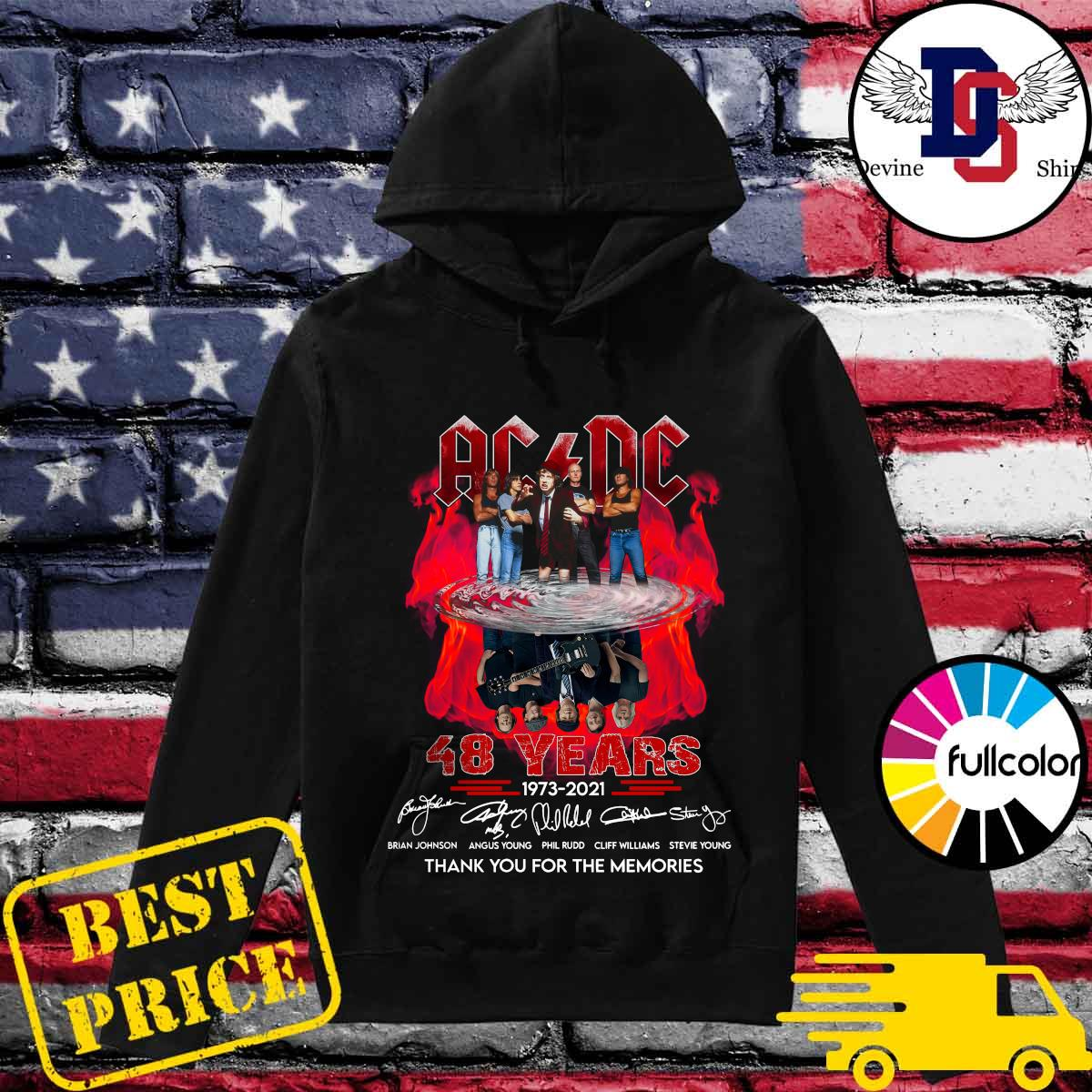 Official Thank You For The Memories Of The Ad Dc Band With 48 Years 1973 2021 Signatures Shirt Hoodie