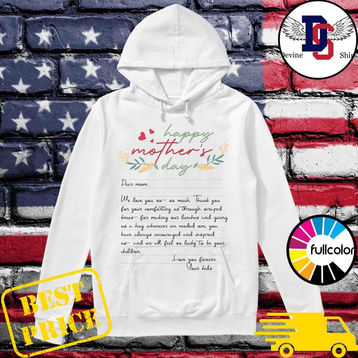 Letters From Mother Happy Mother's Day 2021 Shirt Hoodie