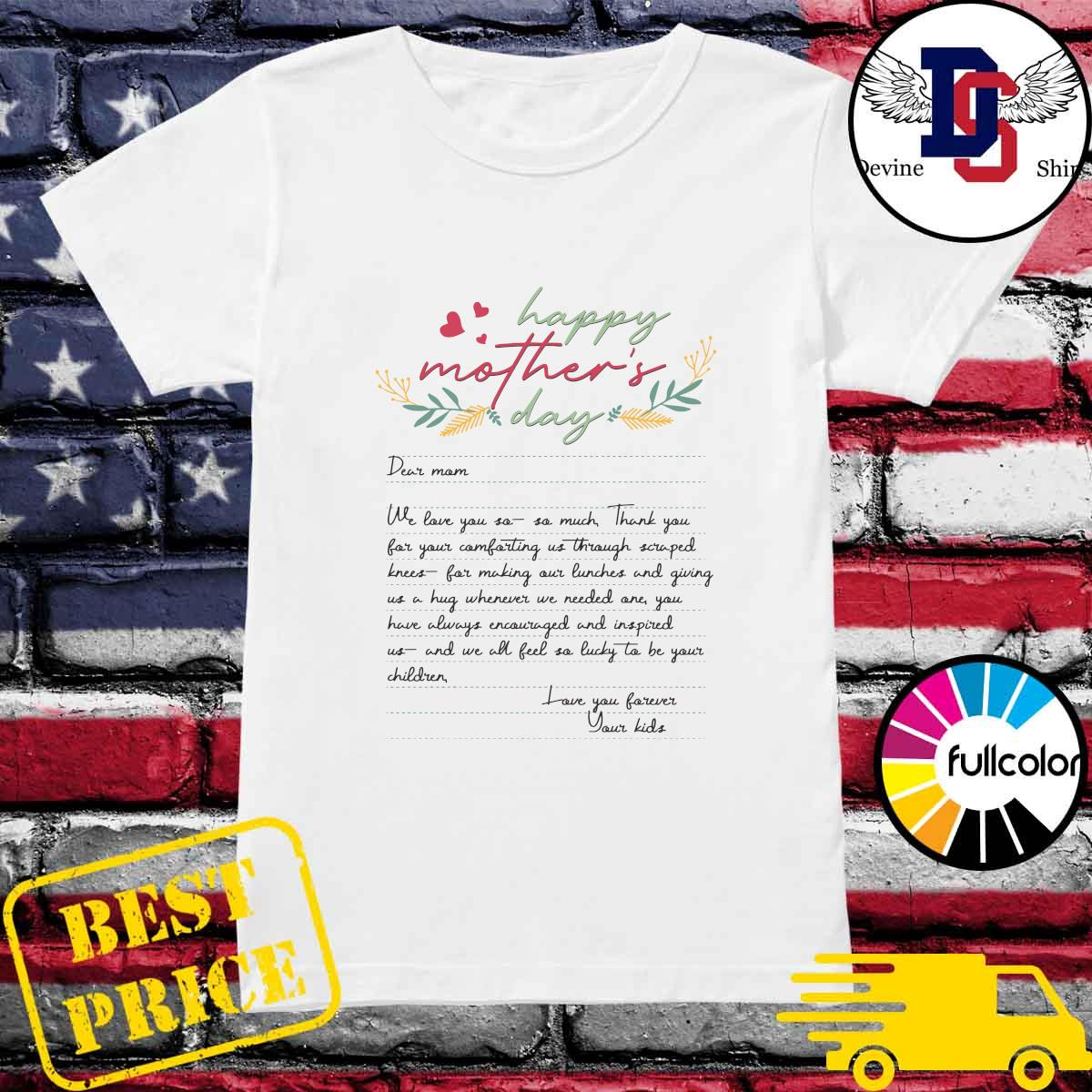 Letters From Mother Happy Mother's Day 2021 Shirt Ladies