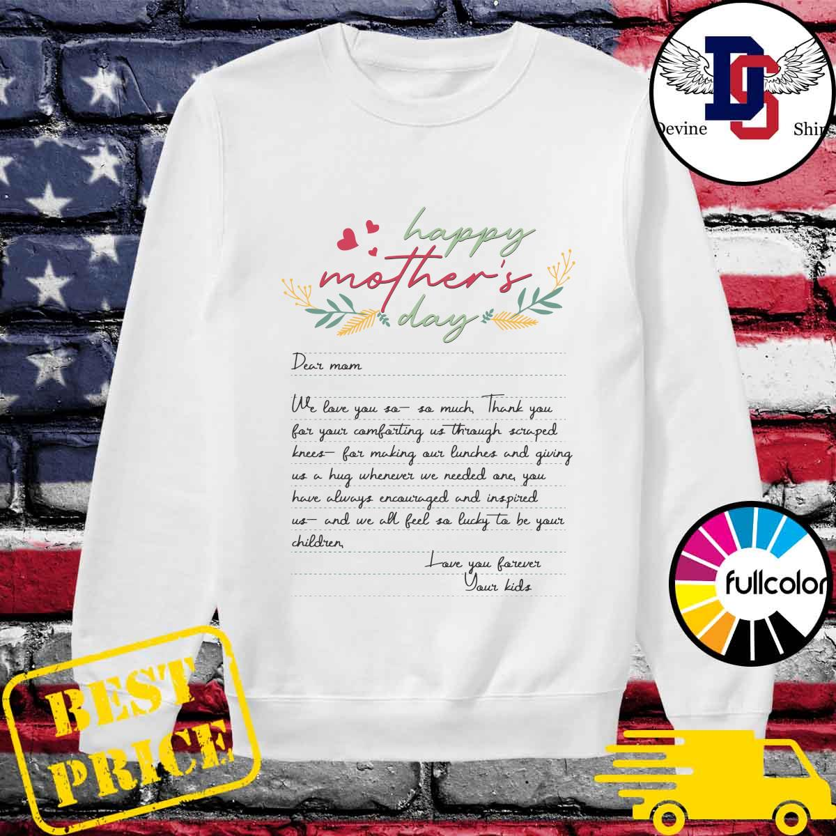 Letters From Mother Happy Mother's Day 2021 Shirt Sweater