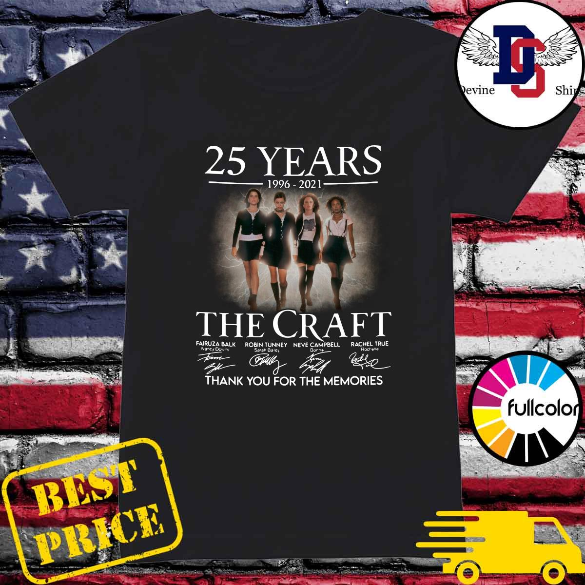 Official 25 Years 1996 2021 Of The Craft Signatures Thank You For The Memories Shirt Ladies