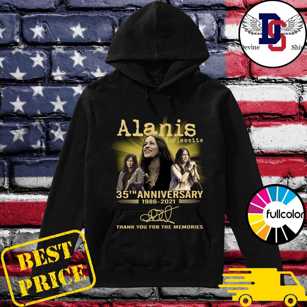 Official 35th Anniversary 1986 2021 Of The Alanis Morissette Signatures Thank You For The Memories Shirt Hoodie