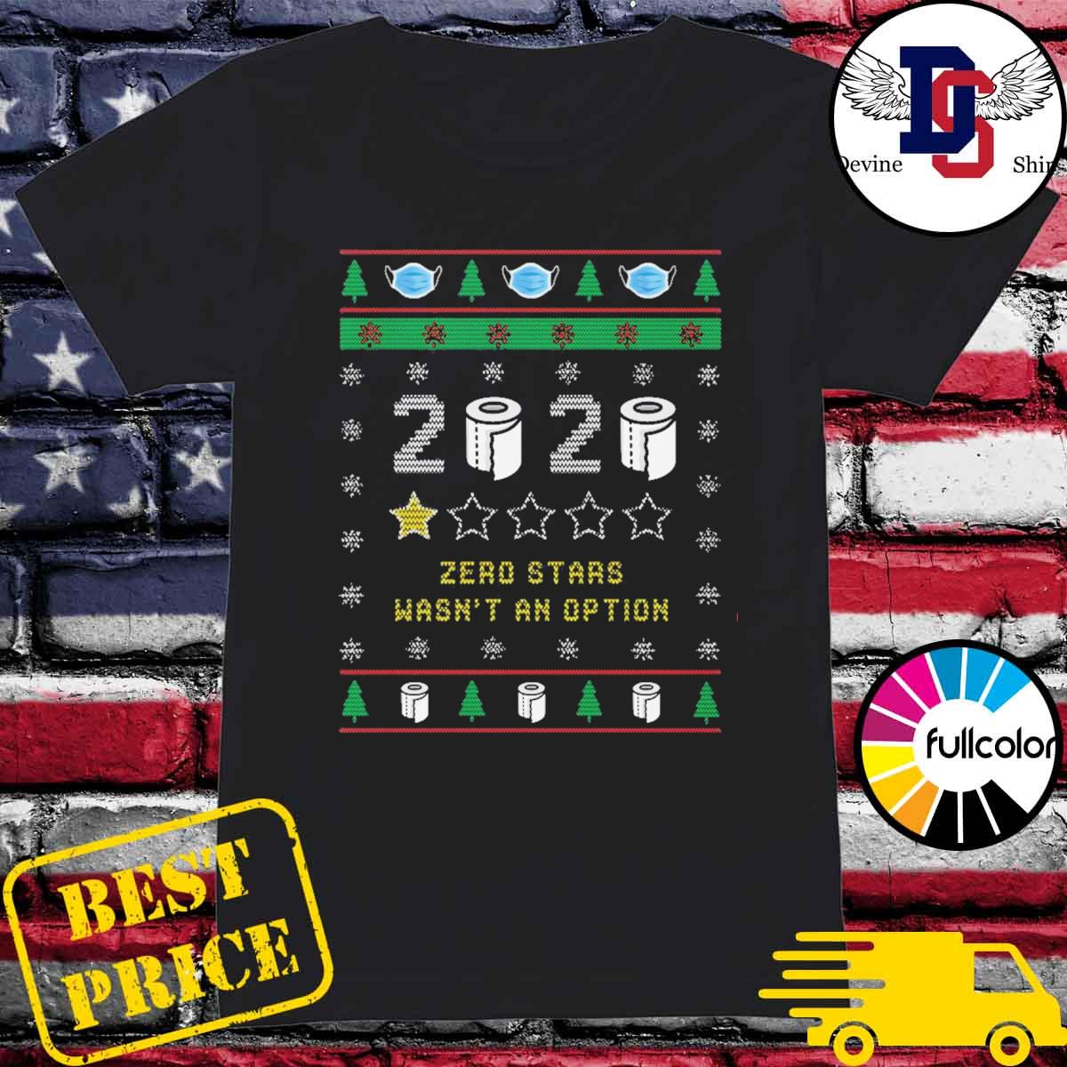 2020 toilet paper zero stars wasn't an option ugly Christmas sweater Ladies
