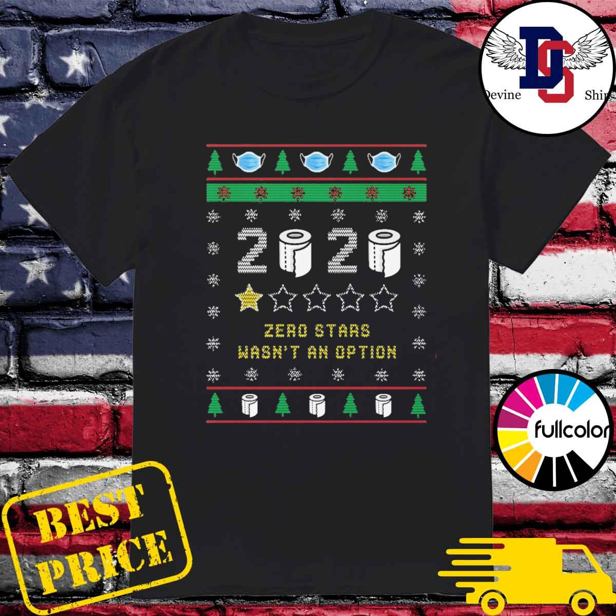 2020 toilet paper zero stars wasn't an option ugly Christmas sweater
