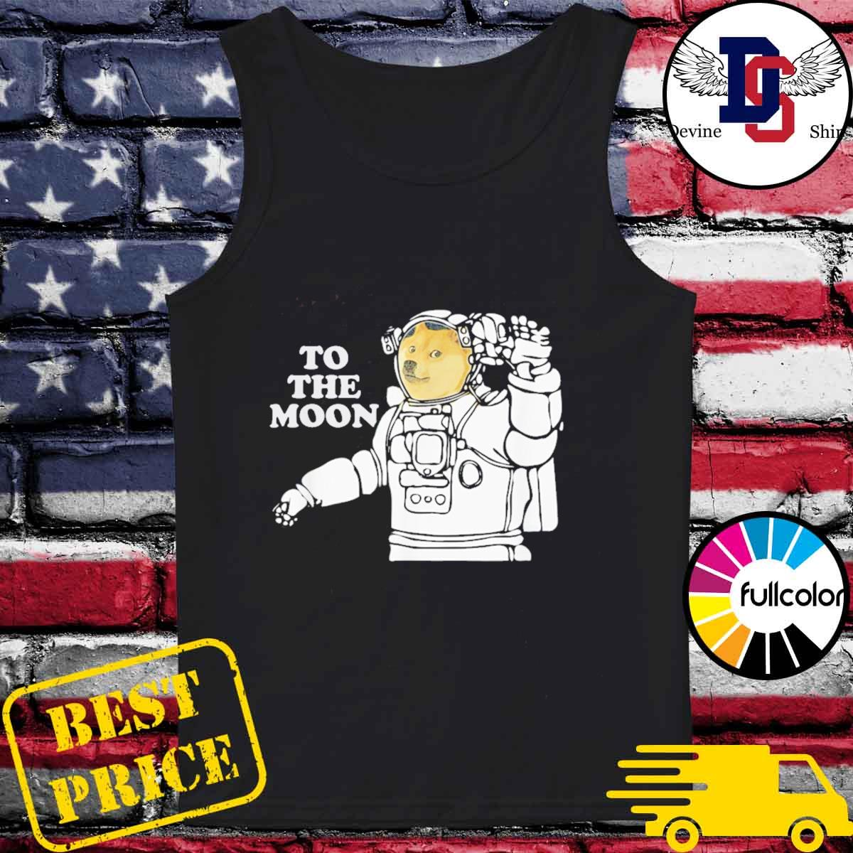 Dogecoin To The Moon Cool T-Shirt Tank-top