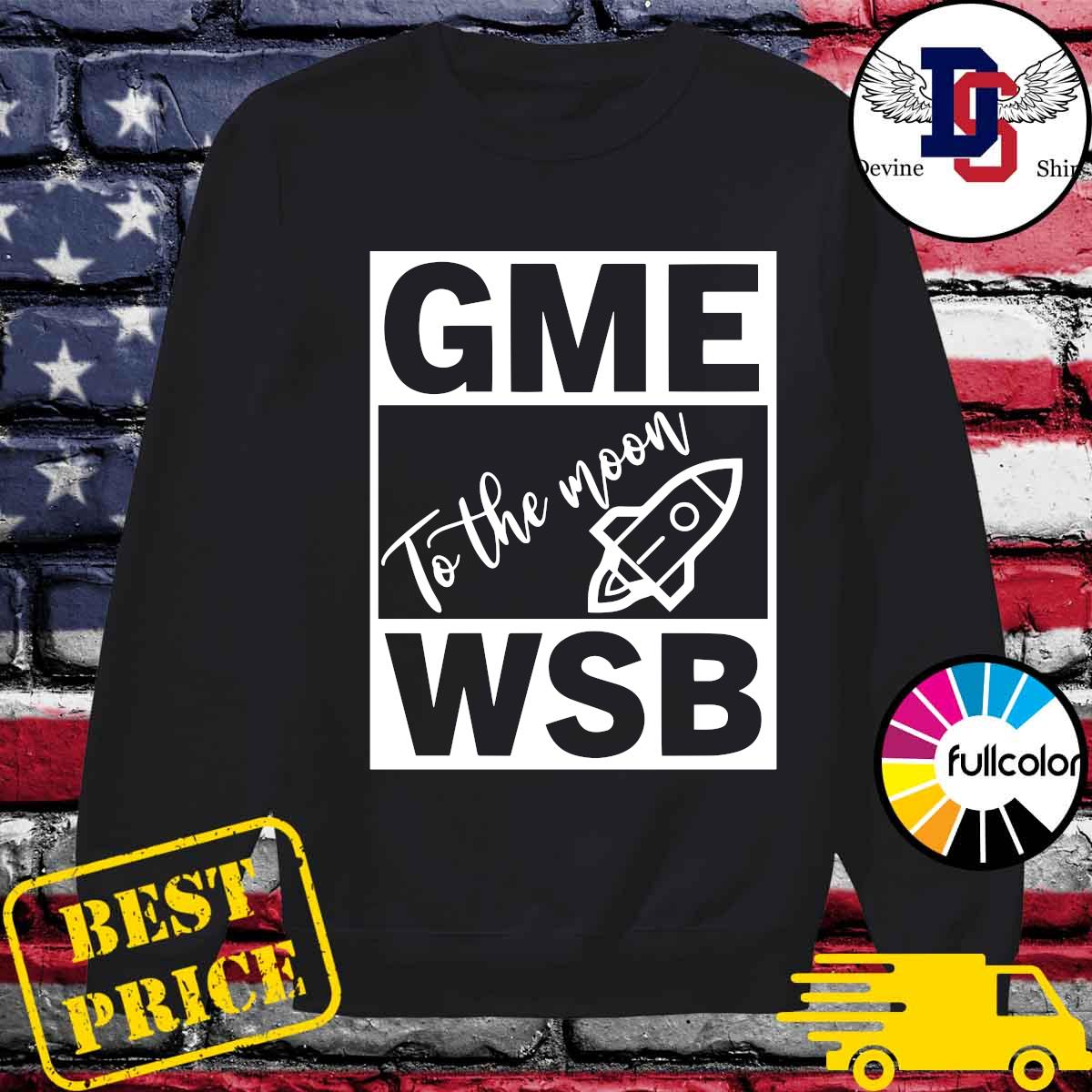 GME - WSB Game To The Moon s Sweater