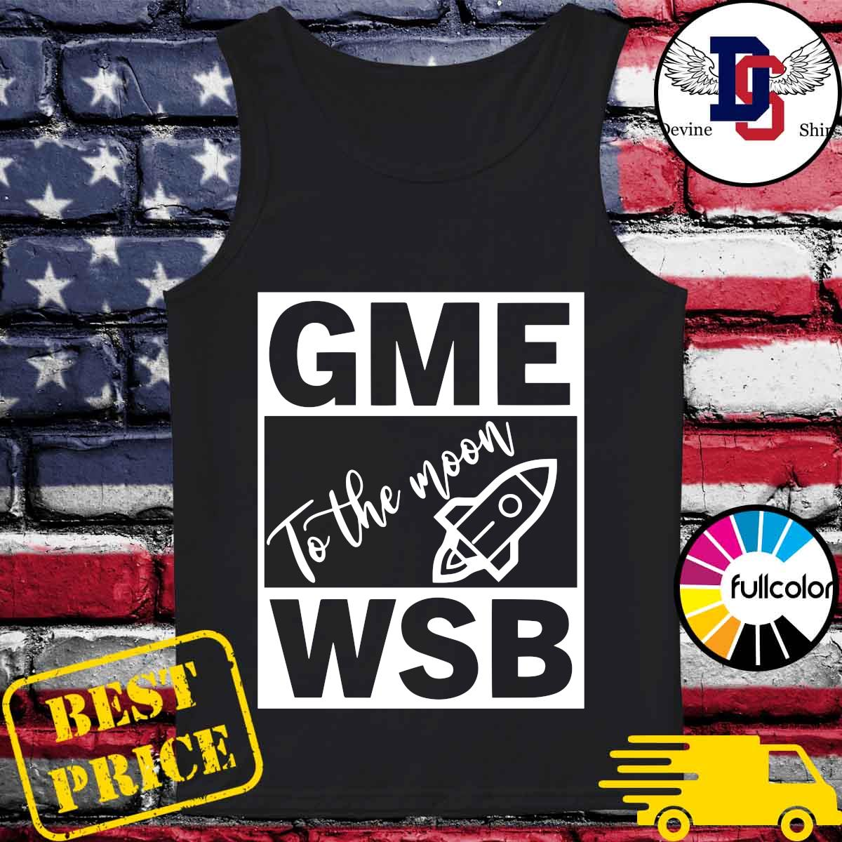 GME - WSB Game To The Moon s Tank-top