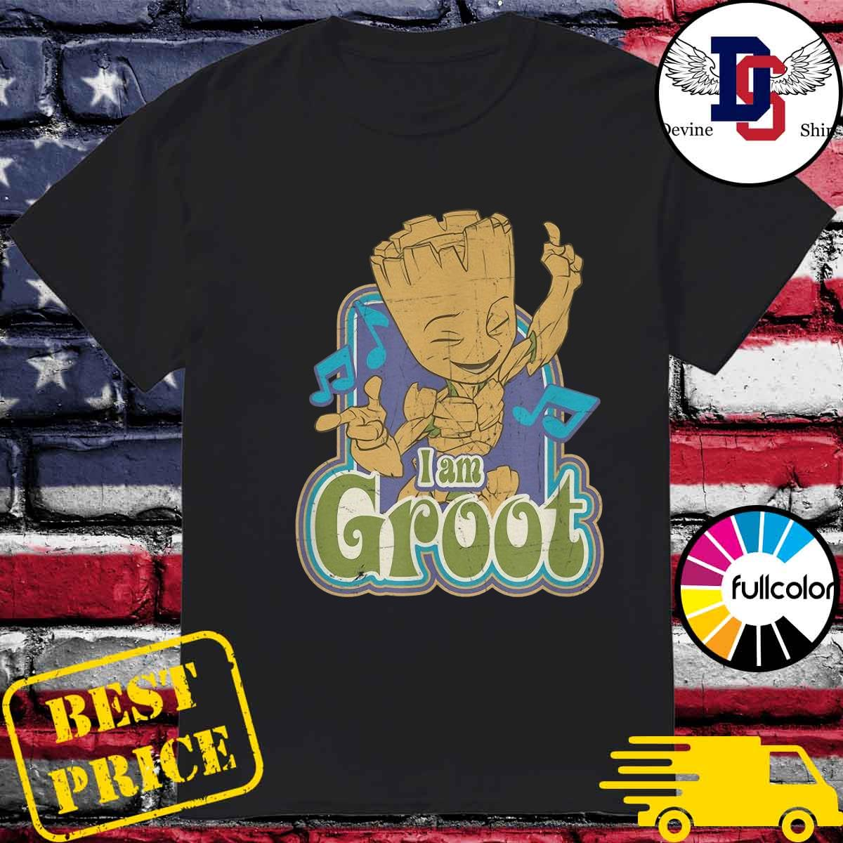 Groot Listening Mucsic With I'm A Groot Shirt