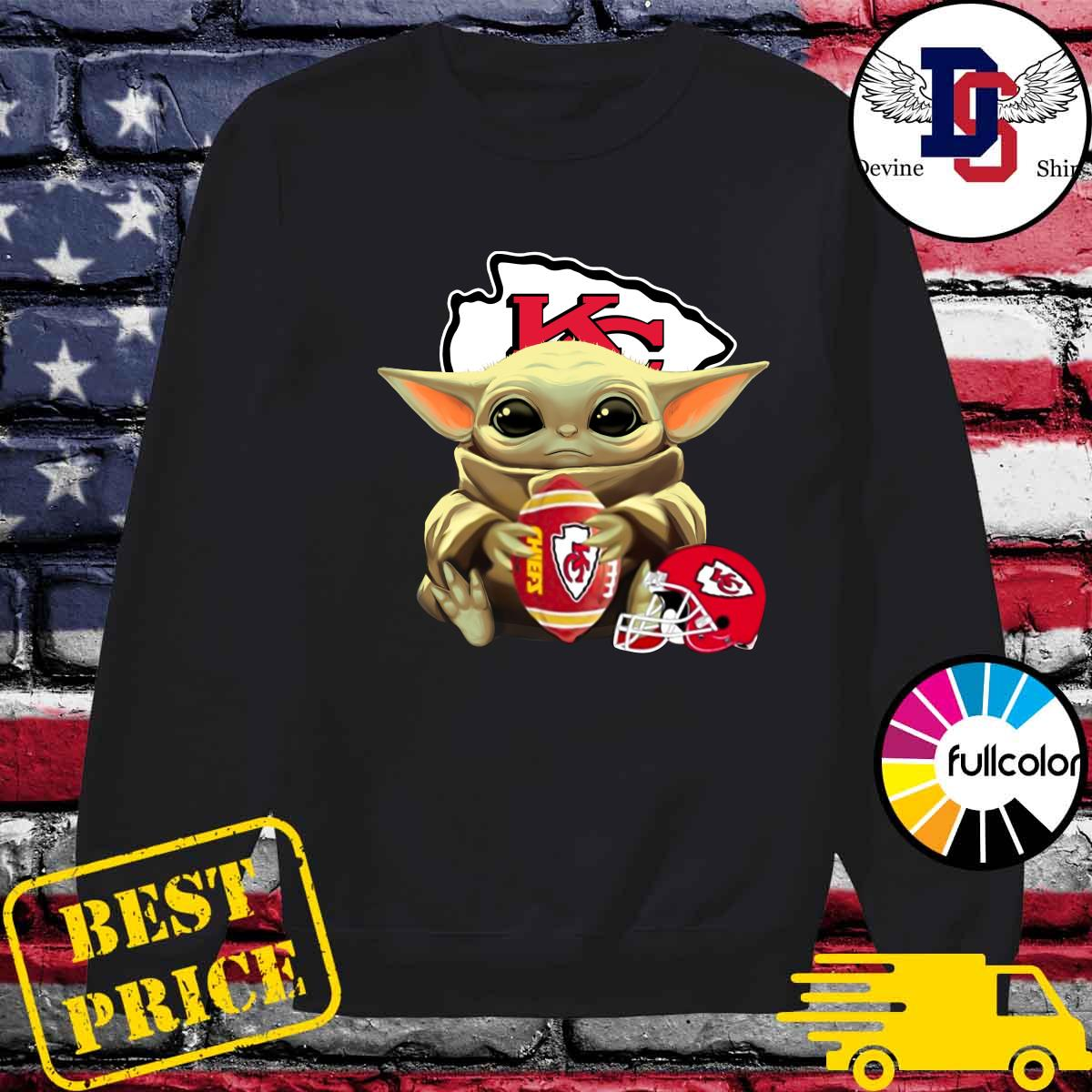Helmet Kansas City Chiefs With Baby Yoda Hug Rugby Chiefs 2021 Shirt Sweater