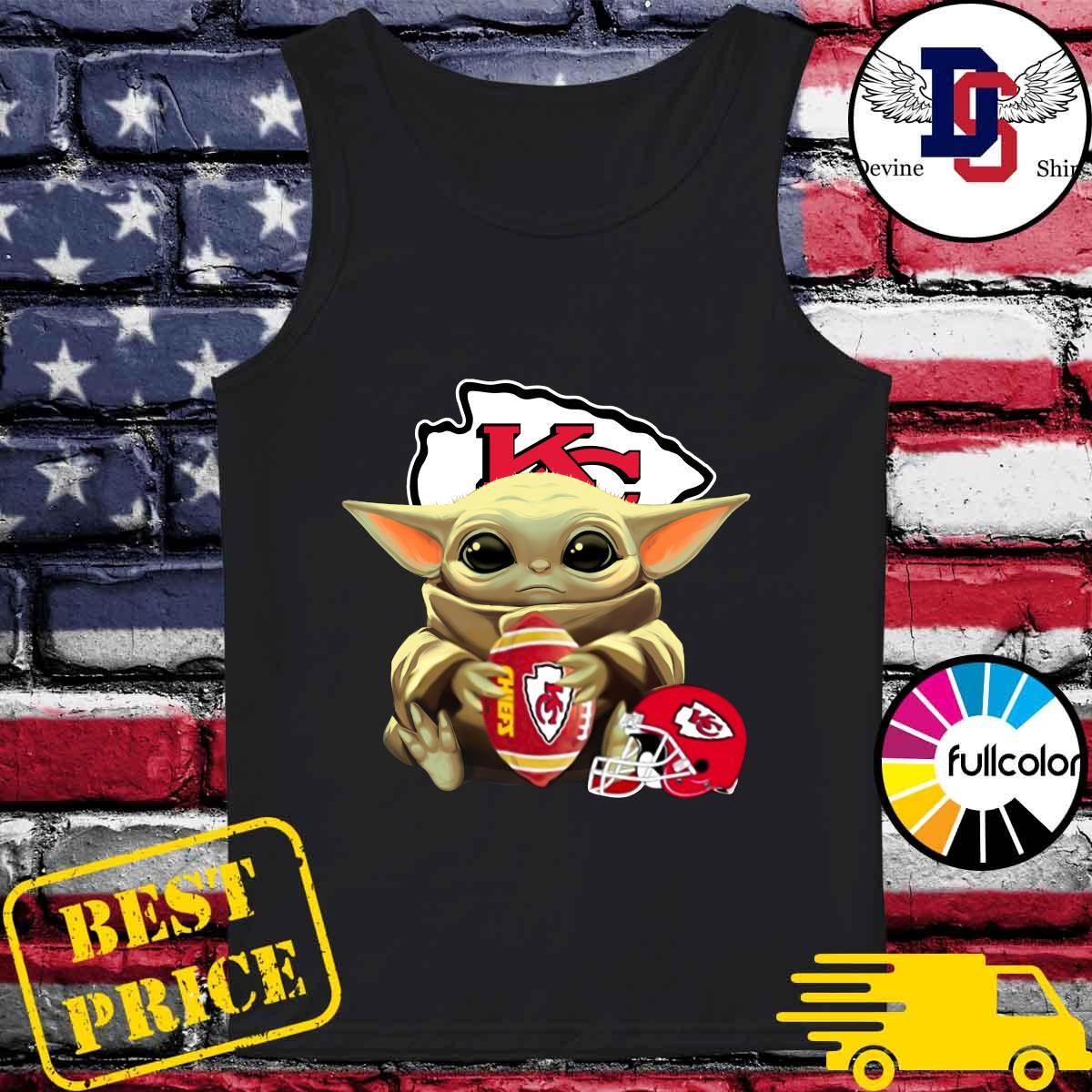 Helmet Kansas City Chiefs With Baby Yoda Hug Rugby Chiefs 2021 Shirt Tank-top