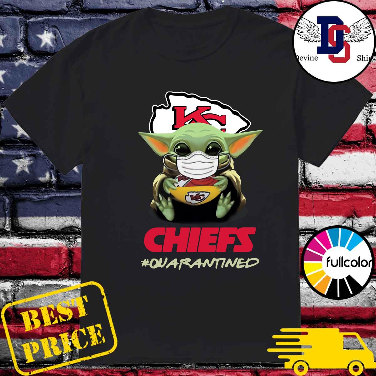 Official Baby Yoda Face Mask Hug Chiefs 2021 Quarantined Shirt
