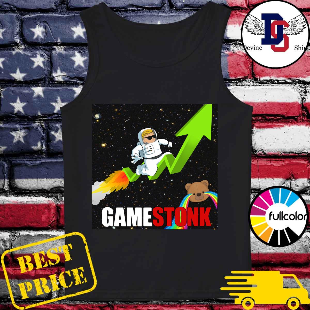 Official Logo #Gamestonk2021 – Gamestonk Stock Market – Can't Stop Game Stonk GME T-Shirt Tank-top