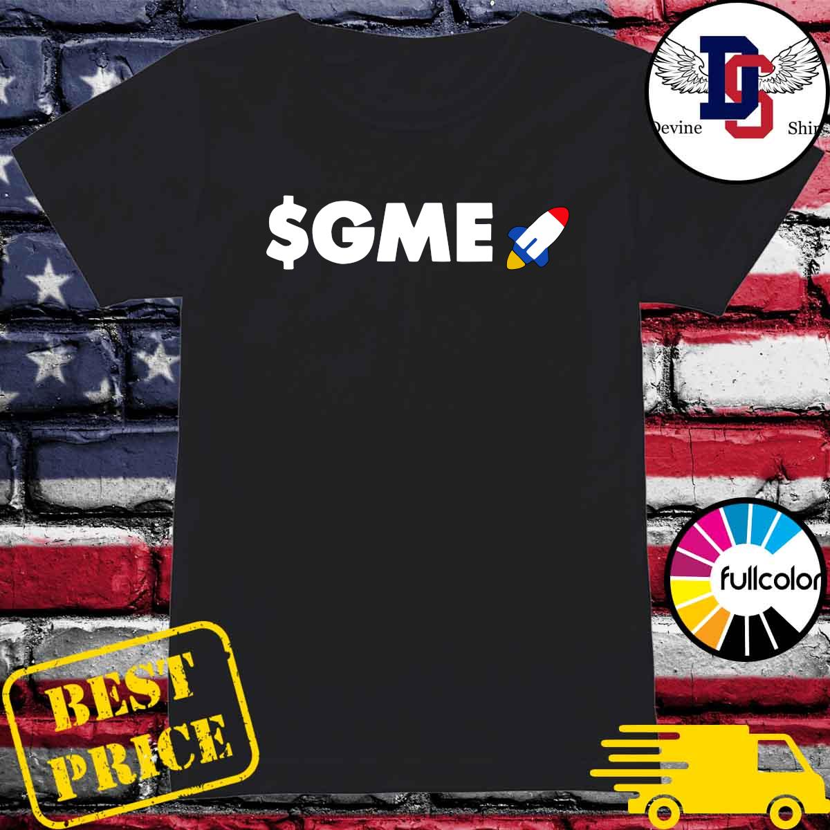 Official Logo $GME – Gamestonk Game Stonk Stop GME T-Shirt Ladies