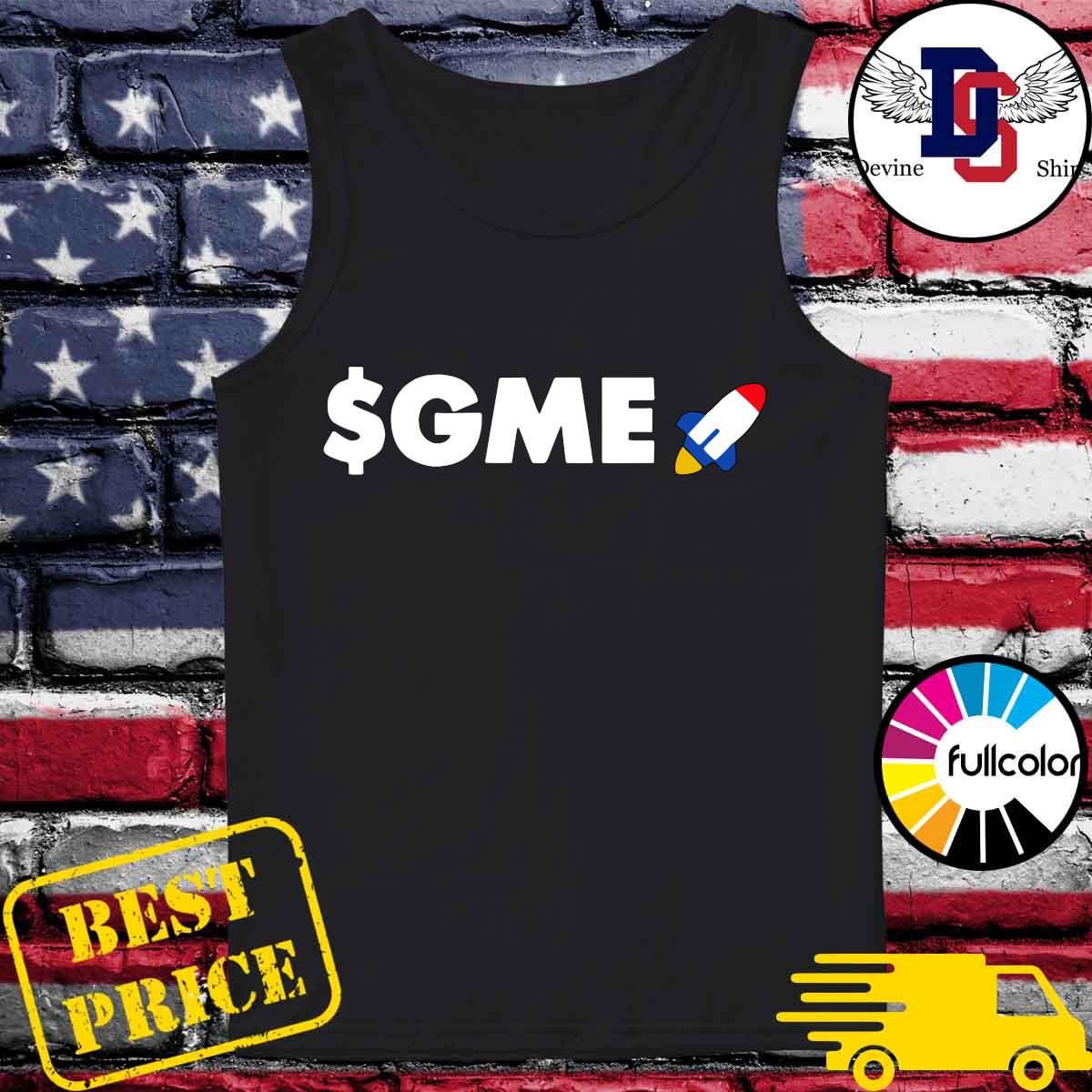 Official Logo $GME – Gamestonk Game Stonk Stop GME T-Shirt Tank-top