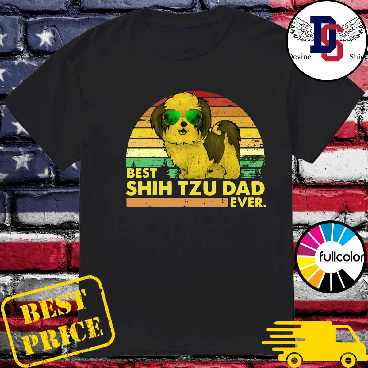Official Vintage Retro Best Shih Tzu Dad Ever 2021 Shirt