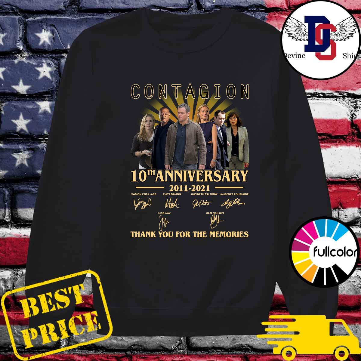 The Contagion 10th Anniversary 2011 2021 Signatures Thanks For The Memories Shirt Sweater