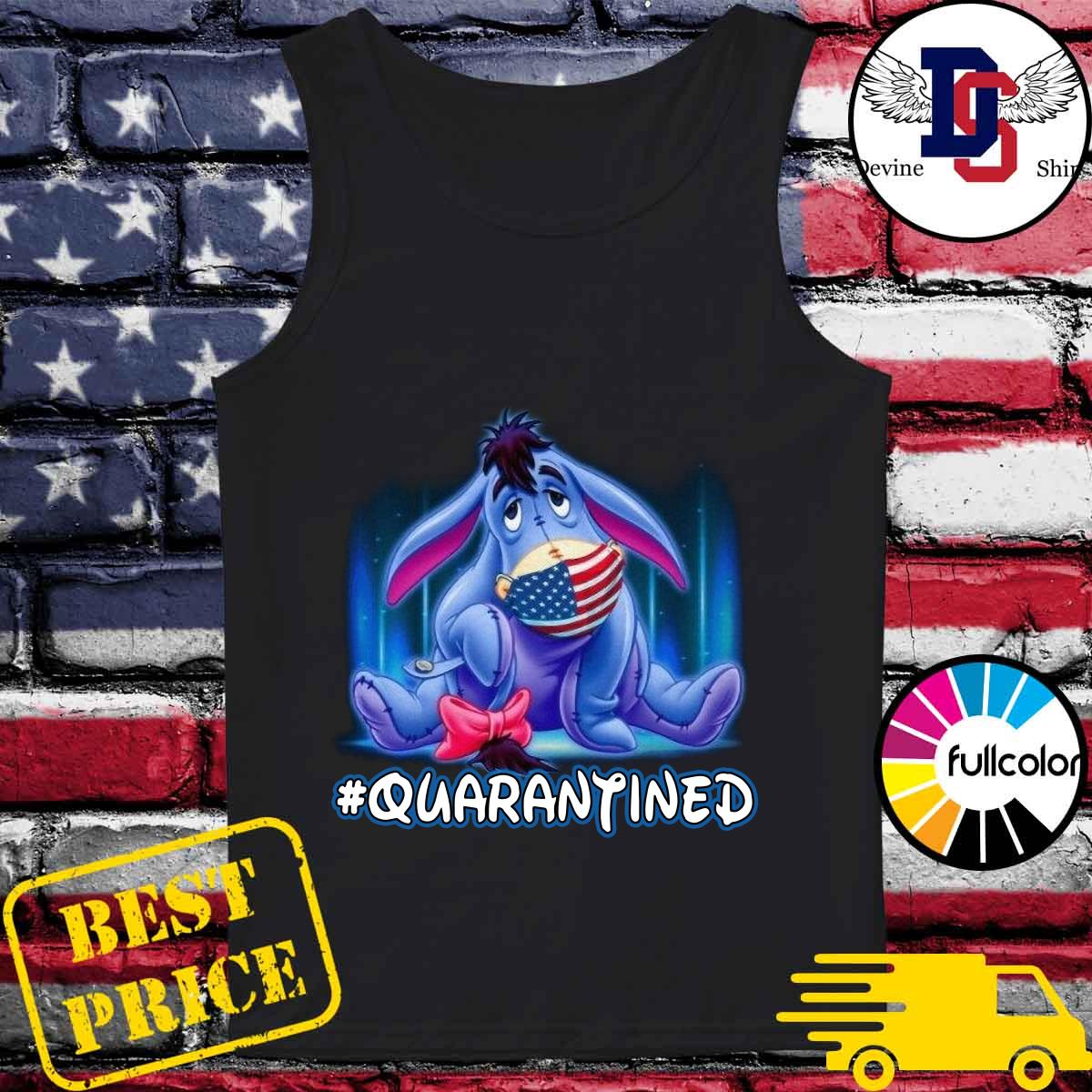 The Eeyore American Flag Face Mask 2021 Quarantined Shirt Tank-top
